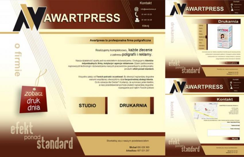 Strona internetowa Awart Press